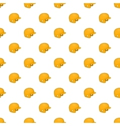 Yellow baseball helmet pattern cartoon style vector