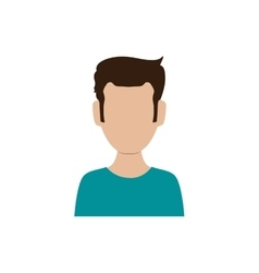 Man head and torso icon avatar male design vector