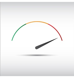Simple tachometer with indicator in red part vector image