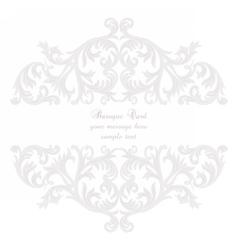Vintage baroque rococo ornament card vector