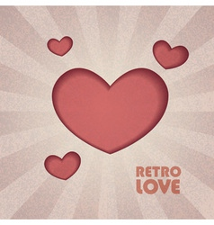 Retro valentine heart vector