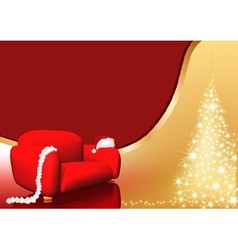 Red chair christmas vector