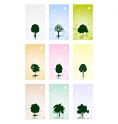 frame with tree vector image