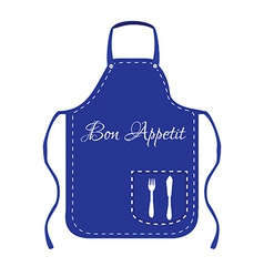 Blue apron vector