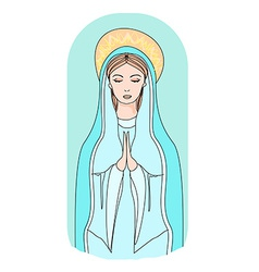 Blessed virgin mary vector