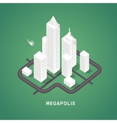 Isometric city buildings vector
