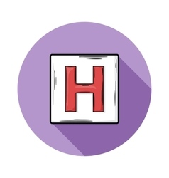 Sign hospitals icon vector