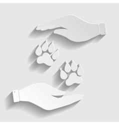 Animal tracks sign vector