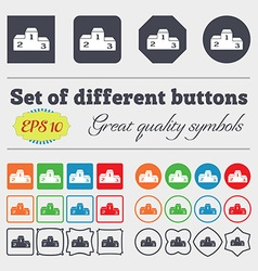 Podium icon sign big set of colorful diverse vector