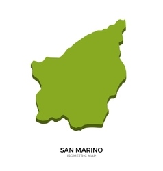 Isometric map of san marino detailed vector