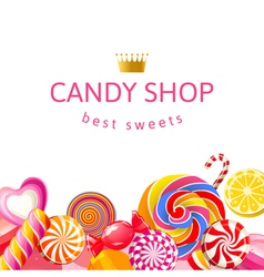 background with candies vector image vector image