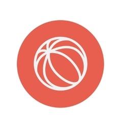 Beach ball thin like icon vector