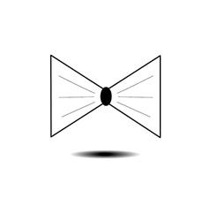 Bow tie vector