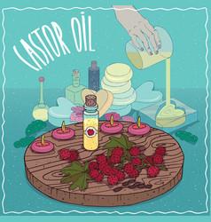 Castor oil used for soap making vector