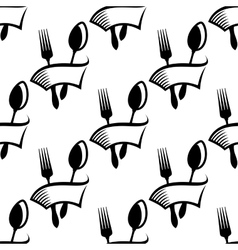Catering or food icon seamless pattern vector image vector image