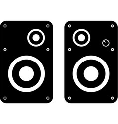 computer speakers icon vector image