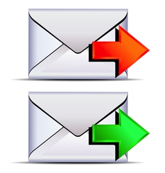 Contact email send icon vector
