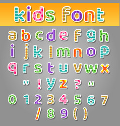 cute kids patchwork patterns alphabet vector image