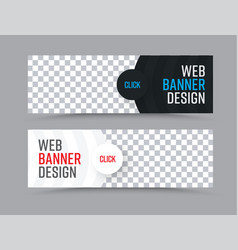 design of horizontal web banners with a place for vector image vector image