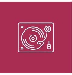 Disk Jockey turntable icon vector image vector image