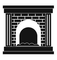 Fireplace for fire icon simple style vector