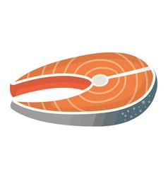 fish steak fillet icon vector image