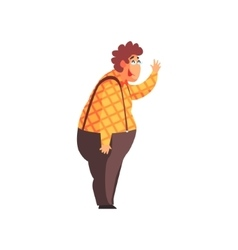 Flamboyant know-it-all guy character in checked vector