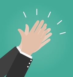Hands clapping icons applause icon congratulation vector