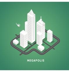 Isometric city buildings vector image