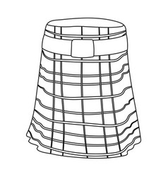 Kilt icon in outline style isolated on white vector
