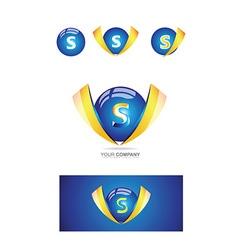 Letter s sphere 3d logo vector image