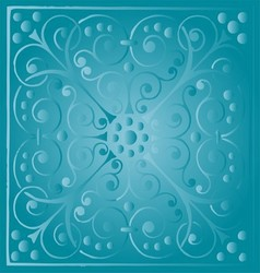 Luxury vintage floral blue background vector