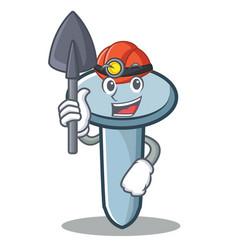 Miner nail character cartoon style vector