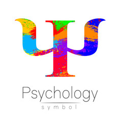 modern sign of psychology psi creative style vector image vector image