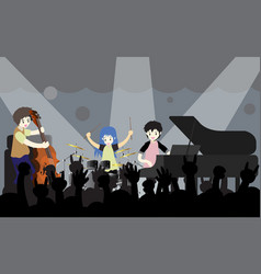 Musicians jazz band on stage vector
