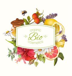Organic cosmetics banner vector