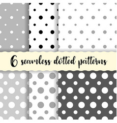 Polka dots seamless patterns vector