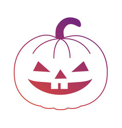 Pumpkin hallooween decorative icon vector