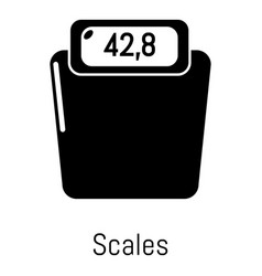 scales icon simple black style vector image