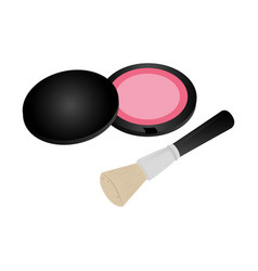 Set collection blush with brush makeup vector