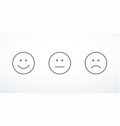 set of emoticon icons vector image