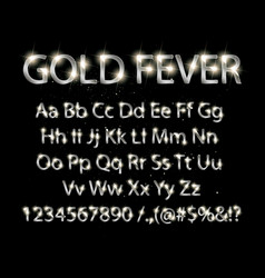Silver english alphabet on a black background vector
