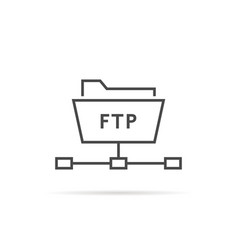 simple thin line ftp folder icon vector image