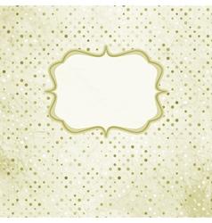 Vintage Polka Card vector image vector image