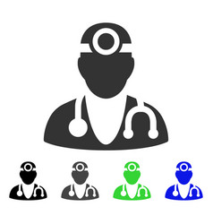 Vision doctor flat icon vector