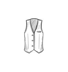 Waistcoat hand drawn sketch icon vector
