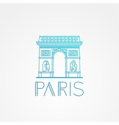 World famous arc de triomphe vector