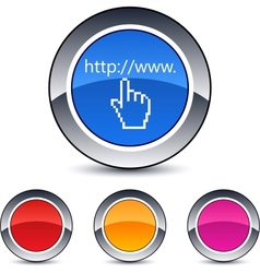 Www click round button vector