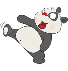 Cute panda cartoon character vector