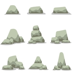Stone set collection stock art vector